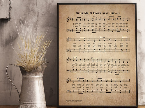 Guide me, O Thou Great Jehovah - Hymn Print