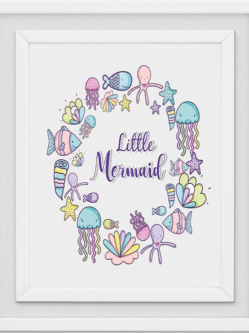 Mermaid Nursery Print M1085