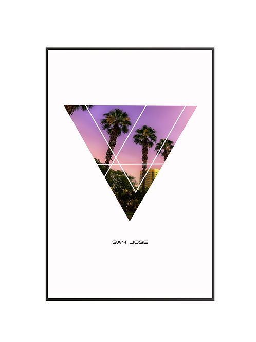 "San Jose Triangular Poster 24""x36"""