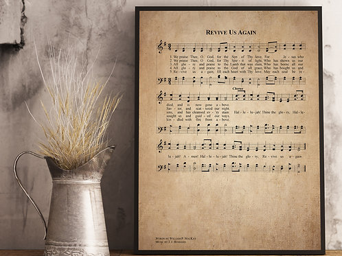 Revive us again - Hymn Print