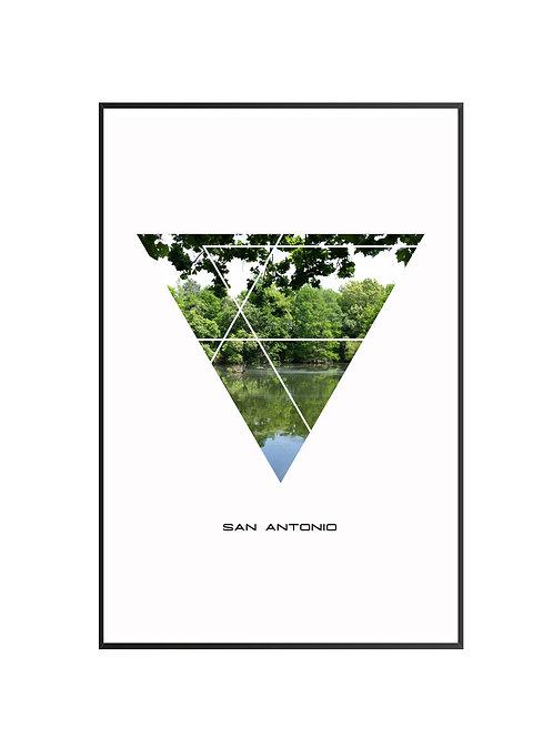 "San Antonio Triangular Poster 24""x36"" - v1"