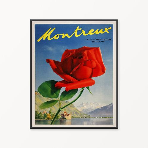 Montreux Vintage Travel Poster