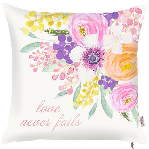 Pillow Cover - Love Never Fails - 502-8353/2