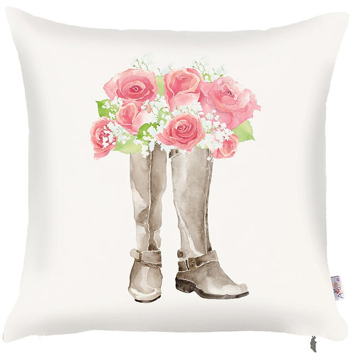 Pillow Cover - Boots and Roses - 502-8237/1