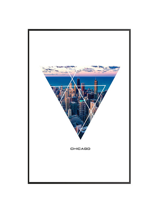 """Chicago City Poster 24""""x36"""""""