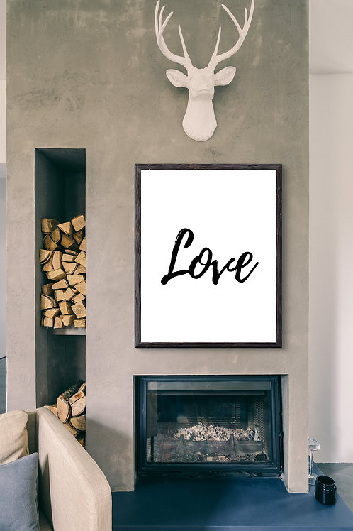 Love - Large wall art