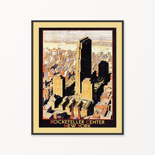 New York Vintage Travel Poster v2