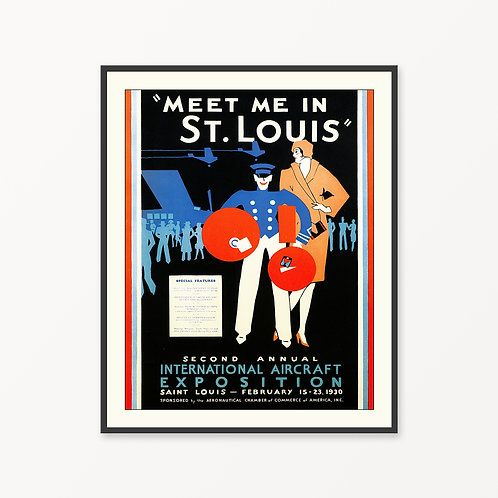 St. Louis Vintage Travel Poster