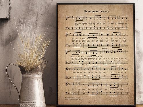 Blessed Assurance - Hymn Print
