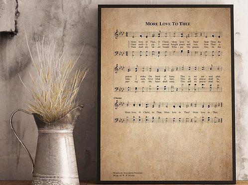 More Love to Thee - Hymn Print
