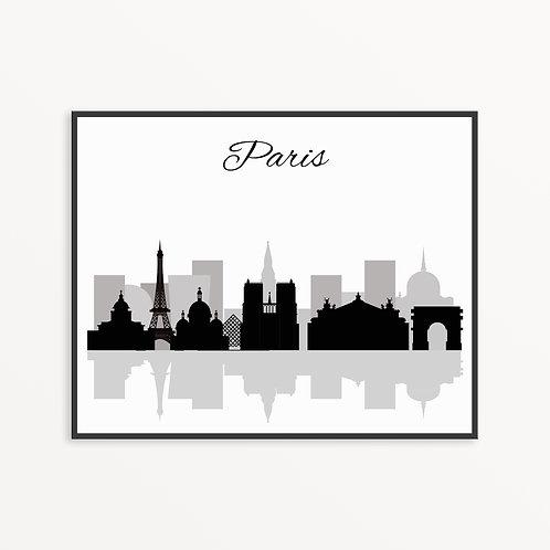 Paris City Silhouette v2