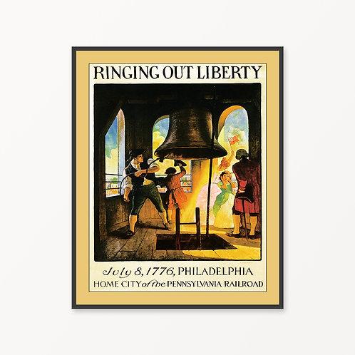 Philadelphia Vintage Travel Poster