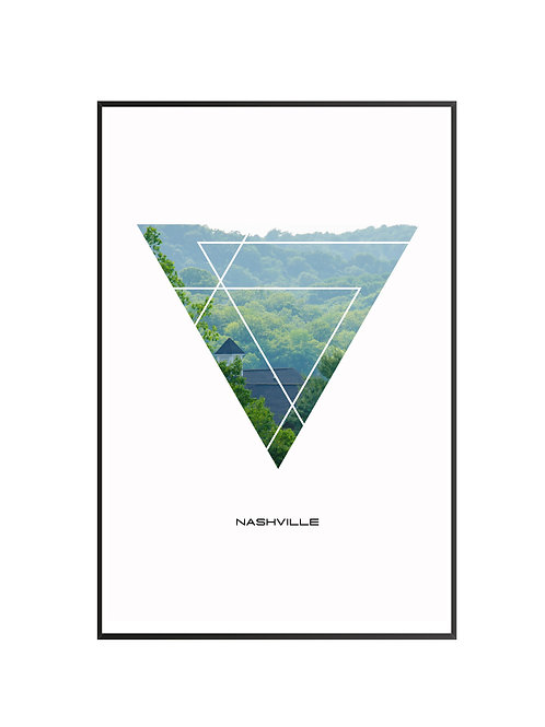 "Nashville Triangular Poster 24""x36"" - v2"