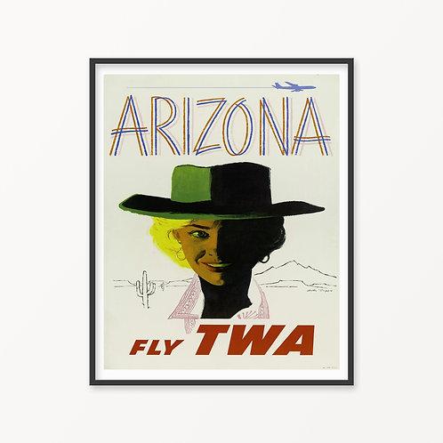 Arizona Vintage Travel Poster