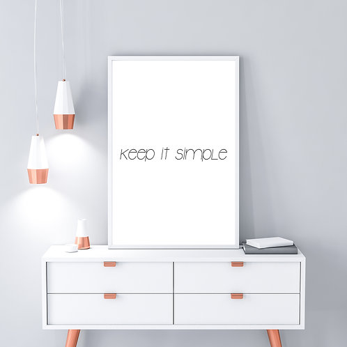 Keep it simple - Large wall art