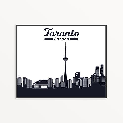 Toronto City Silhouette v2
