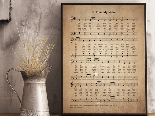 Be Thou My Vision (F) - Hymn Print