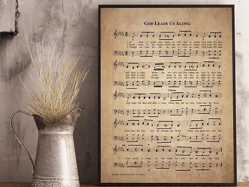 God Leads us Along - Hymn Print