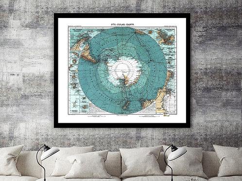 Vintage Antarctica Atlas