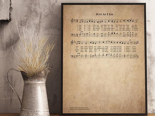 Just as i am - Hymn Print