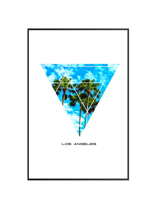"Los Angeles Triangular Poster 24""x36"""