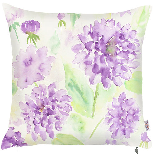 Pillow Cover - Purple Flowers - 502-8259/1