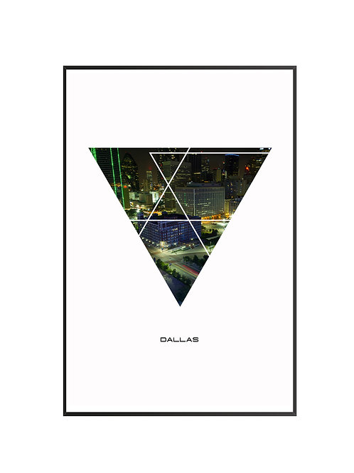 "Dallas City Poster 24""x36"""