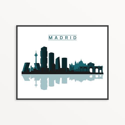Madrid City Silhouette GBW