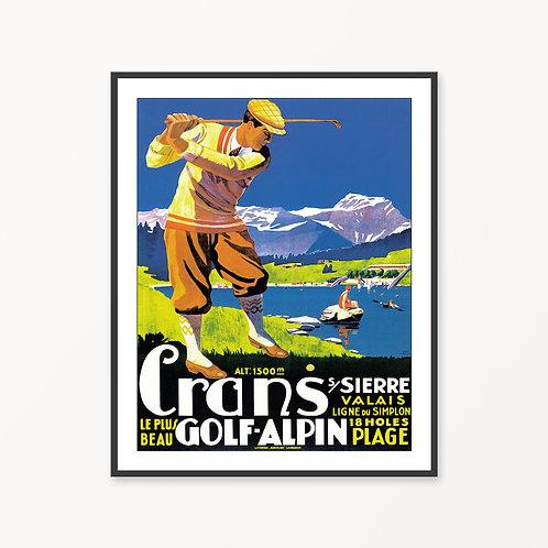 Alpin Vintage Travel Poster