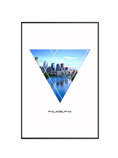"Philadelphia Triangular Poster 24""x36"" - v3"