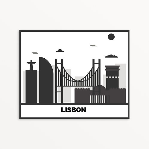 Lisbon City Silhouette v1