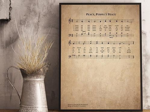 Peace, Perfect Peace - Hymn Print