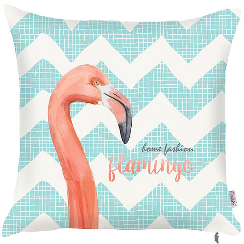 Pillow Cover - Flamingo on Turquoise - 502-8318/2