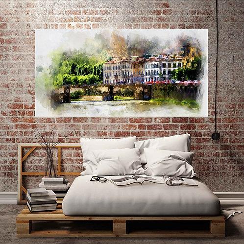 Watercolor Houses Artwork