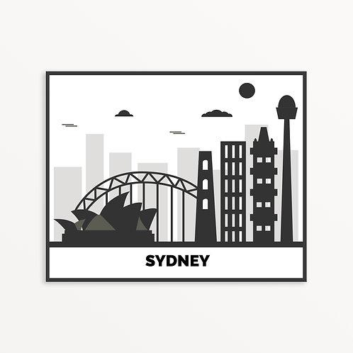 Sydney City Silhouette v2