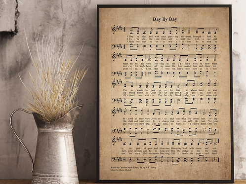 Day By Day - Hymn Print