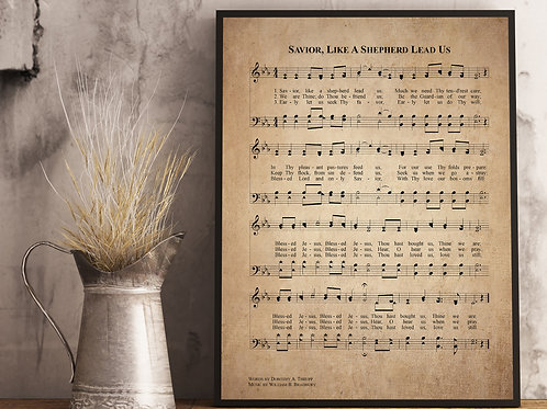 Savior, like a Shepherd Lead us - Hymn Print