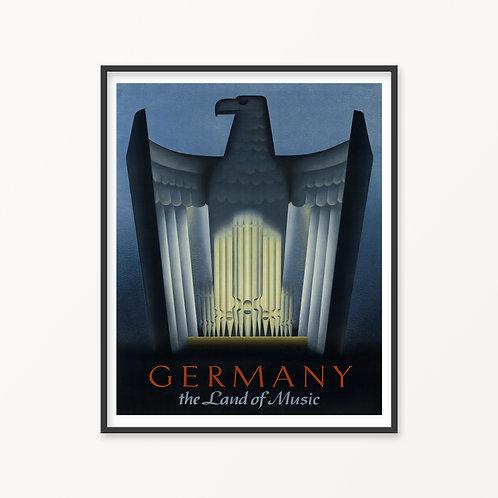 Germany Vintage Travel Poster v2