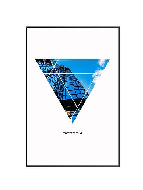 "Boston Triangular City Poster 24""x36"""