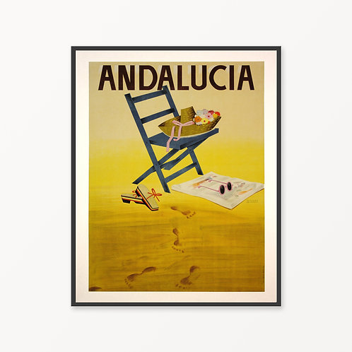 Andalucia Vintage Travel Poster