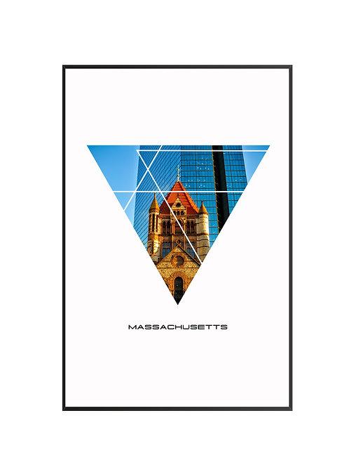 """Massachusetts Triangular Poster 24""""x36"""""""