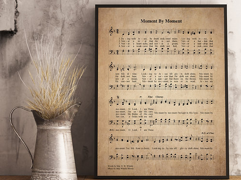 Moment By Moment - Hymn Print