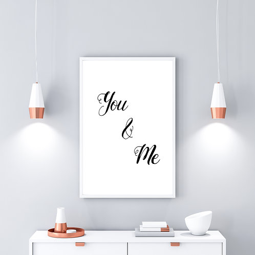 You & Me - Large wall art