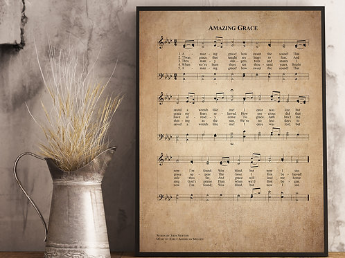 Amazing Grace - Hymn Print