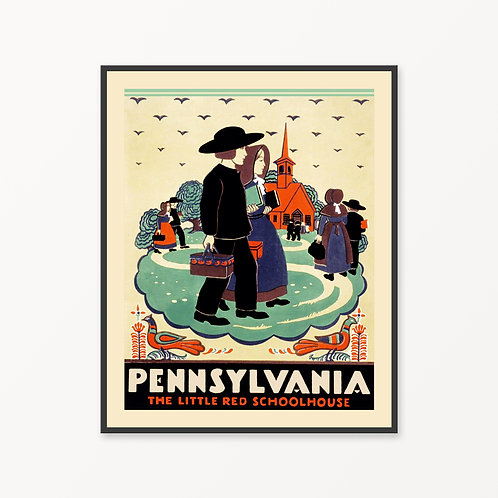Pennsylvania Vintage Travel Poster