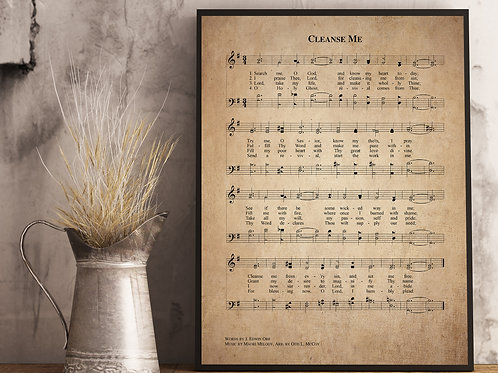 Cleans me - Hymn Print