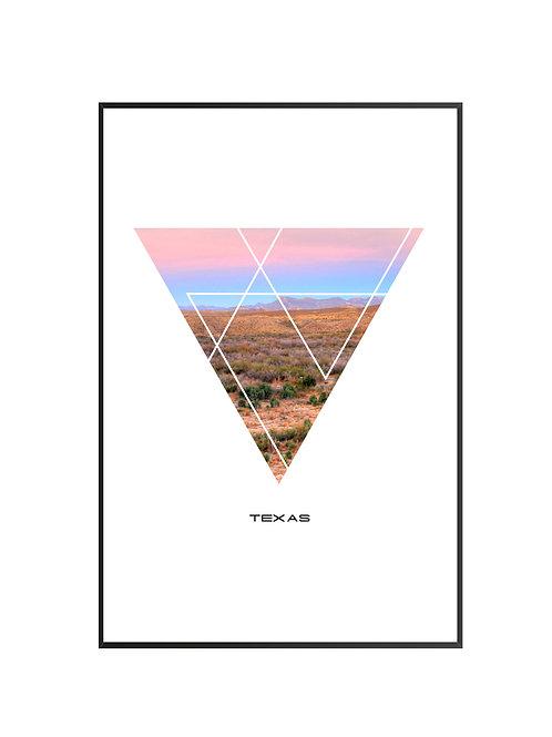 "Texas Triangular Poster 24""x36"" - v1"