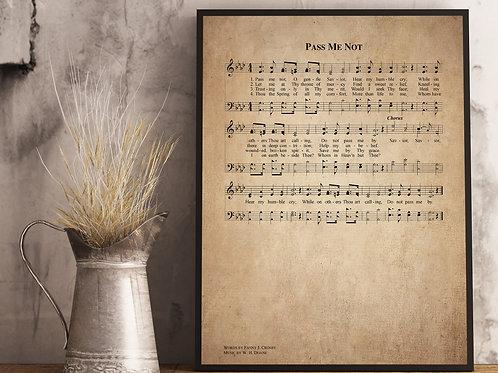 Pass me not - Hymn Print