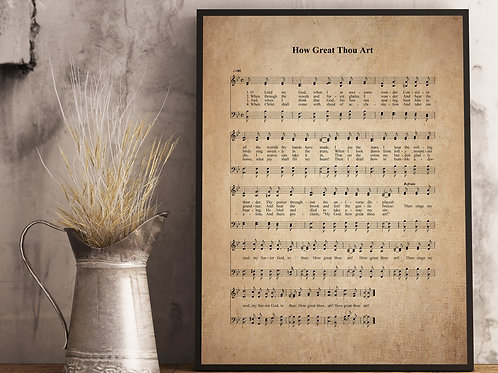 How Great Thou Art - Hymn Print