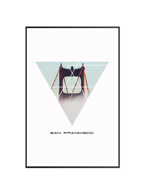 "San Francisco Triangular Poster 24""x36"""
